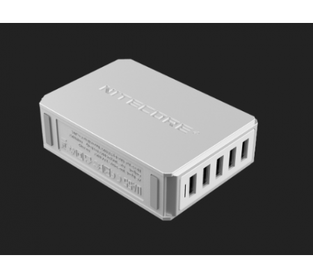 NITECORE UA55 5-Port USB Desktop Adapter