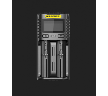 NITECORE UM2 USB Universal 2-Port Smart Charger for Li-Ion/Ni-MH/Ni-Cd/IMR 26650 22650 21700 20700 18650 18490 18350 17670 17500 17335 16340 RCR123 14500 10440 AA AAA AAAA