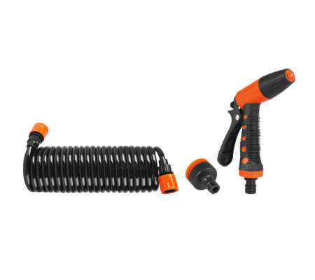 SEAFLO Hosecoil Washdown System Sprayer With Adjustable Grip and Bronze Fittings