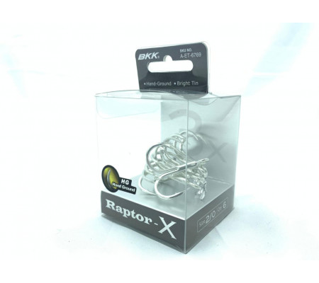 BKK Raptor-X treble hook size 2/0
