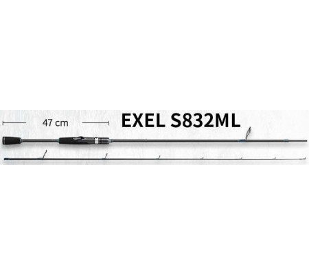 ECOODA ONLINE EXEL S832ML LURE FISHING ROD SPINNING