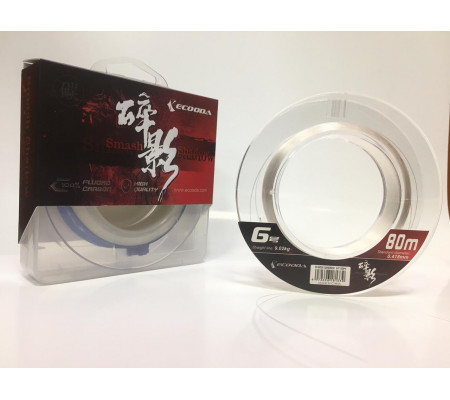 ECOODA SMASH SHADOW FLUOROCARBON LEADER #6 80m