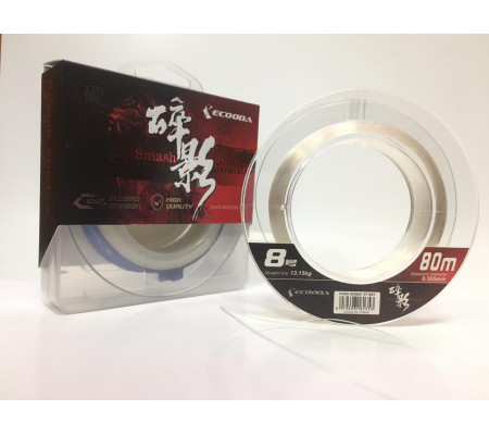 ECOODA SMASH SHADOW FLUOROCARBON LEADER #8 80m