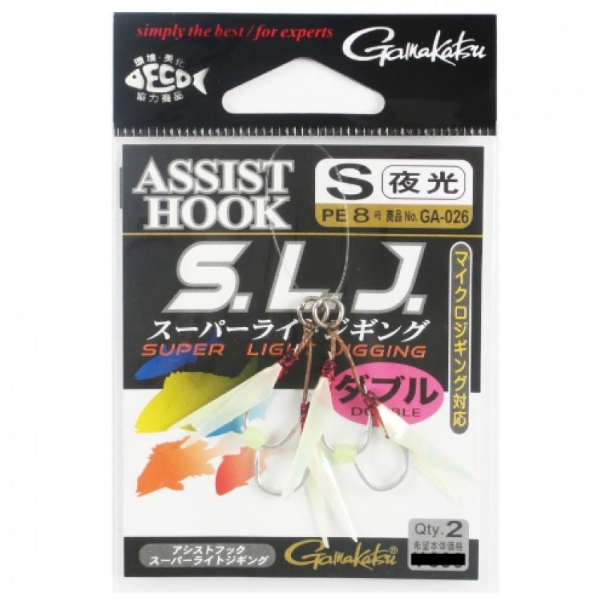 Gamakatsu GA-026 Assist SLJ Super Light Jigging Size S/Glow