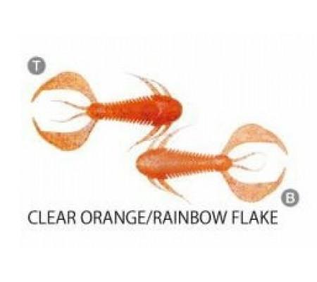 MEGABASS ROCK HOG 2inch CLEAR ORANGE/RAINBOW FLAKE