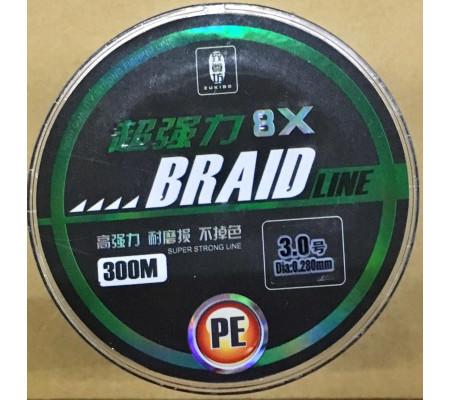 ZUKIBO BRAID LINE 8X 300M PE #3